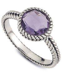 Samuel B. Silver 1.70 Ct. Tw. Amethyst Ring - Metallic