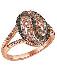 Sabrina Designs 14k Rose Gold 0.37 Ct. Tw. Diamond Ring - Metallic