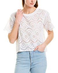 Nation Ltd Alma Oversized Crop Blouse - White