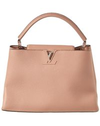 Louis Vuitton - Pink Taurillon Leather Capucines Mm - Lyst