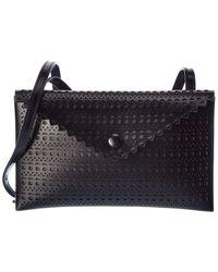 Alaïa Leather Shoulder Bag - Black