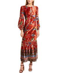 FARM Rio Mystic Red Velvet Maxi Dress