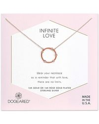Dogeared 14k Rose Gold Over Silver Crystal Necklace - Metallic