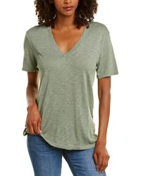 Splendid Slub V-neck T-shirt - Green
