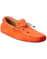 Tod's Tod?s Gommino Leather Loafer - Orange