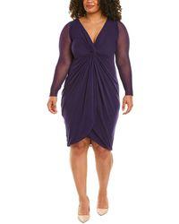 Fuzzi Plus Sheath Dress - Purple