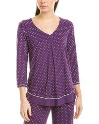 Ellen Tracy Pyjama Top - Purple