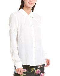 Nicole Miller Nicolle Miller Artelier Silk-blend Blouse - White