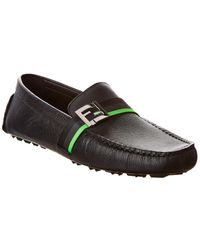 Fendi Ff Motif Loafers - Black