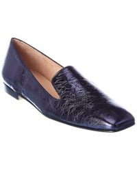 French Sole Duet Leather Loafer - Blue