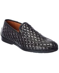Mezlan Quilted Leather Driver - Black