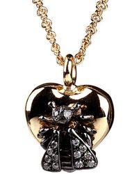Gucci Gucci 18k 0.15 Ct. Tw. Diamond Le Marche Des Merveilles Bee Necklace - Multicolour