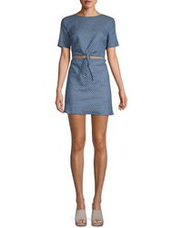 Lucca Couture Kennedi Front-tie Dress - Blue