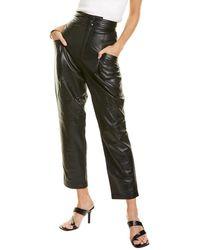 Dundas Leather Trouser - Black