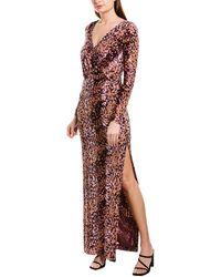 Rachel Zoe Dianora Printed Velvet Gown - Purple