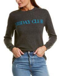 Chinti & Parker Friday Club Wool & Cashmere-blend Jumper - Grey