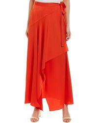 BCBGMAXAZRIA Ruffle Wrap Skirt - Red