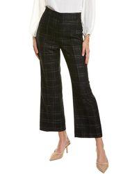 Rebecca Taylor Crosshatch Wool-blend Pant - Black