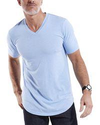 Goodlife Clothing Tri-blend Scallop V-neck T-shirt - Blue