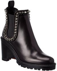 Christian Louboutin Capahutta 70 Leather Bootie - Black