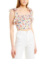 The Kooples Free Flowers Top - White