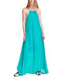 Rag & Bone Melody Silk & Cotton Maxi Dress - Blue
