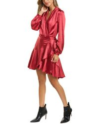 Lucy Paris Sienna Wrap Dress - Red