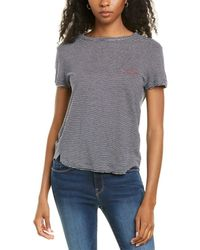 FRAME Denim Easy True Linen T-shirt - Blue