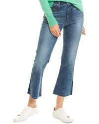 J.Crew Billie Cool Shadow Wash Demi Cropped Bootcut - Blue