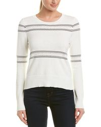 French Connection - Skye Knit Striped Long Sleeve Sweater - Lyst
