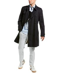 Burberry Short Chelsea Fit Trench Coat - Blue