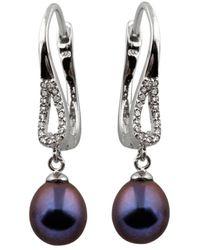 Splendid Silver 7.5-8mm Pearl Earrings - Multicolour