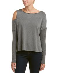 Bailey 44 Cold-shoulder Top - Gray