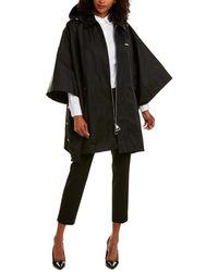Burberry Detachable Hood Logo Applique Cape - Black