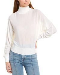 Alice + Olivia Dia Wool-blend Sweater - White