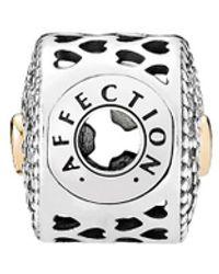 PANDORA Essence Collection 14k & Silver Cz Affection Charm - Metallic