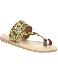 Franco Sarto Leila2 Leather Sandal - Metallic