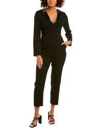 BCBGeneration Tuxedo Jumpsuit - Black