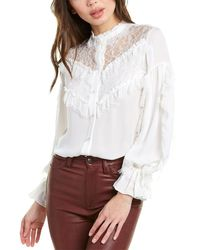 Alexis Mayfair Silk Top - White