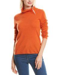 Gobi Cashmere USA Gobi Cashmere Turtleneck Cashmere Jumper - Orange