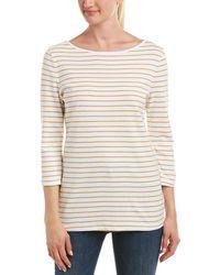 Three Dots 3/4-sleeve Tunic - Yellow