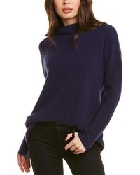 Forte Relaxed Funnel Neck Cashmere-blend Sweater - Blue