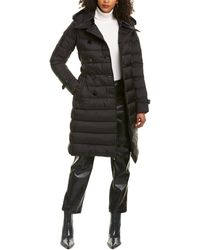 Burberry Double-breasted Puffer Coat - Black
