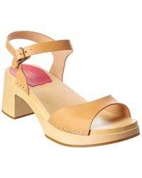 Swedish Hasbeens Basic Leather Sandal - Brown