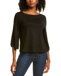 Lafayette 148 New York Relaxed Top - Black