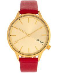 Simplify Unisex The 6700 Watch - Metallic