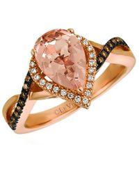Le Vian ? 14k Rose Gold 1.59 Ct. Tw. Diamond & Morganite Ring - Metallic
