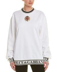 Dolce & Gabbana Logo Band Sweatshirt - White
