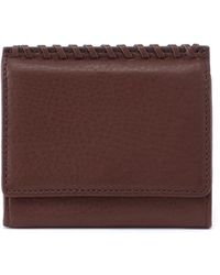 Hobo International Stitch Leather Wallet - Brown