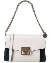 Givenchy Gv3 Small Leather & Suede Shoulder Bag - Multicolour
